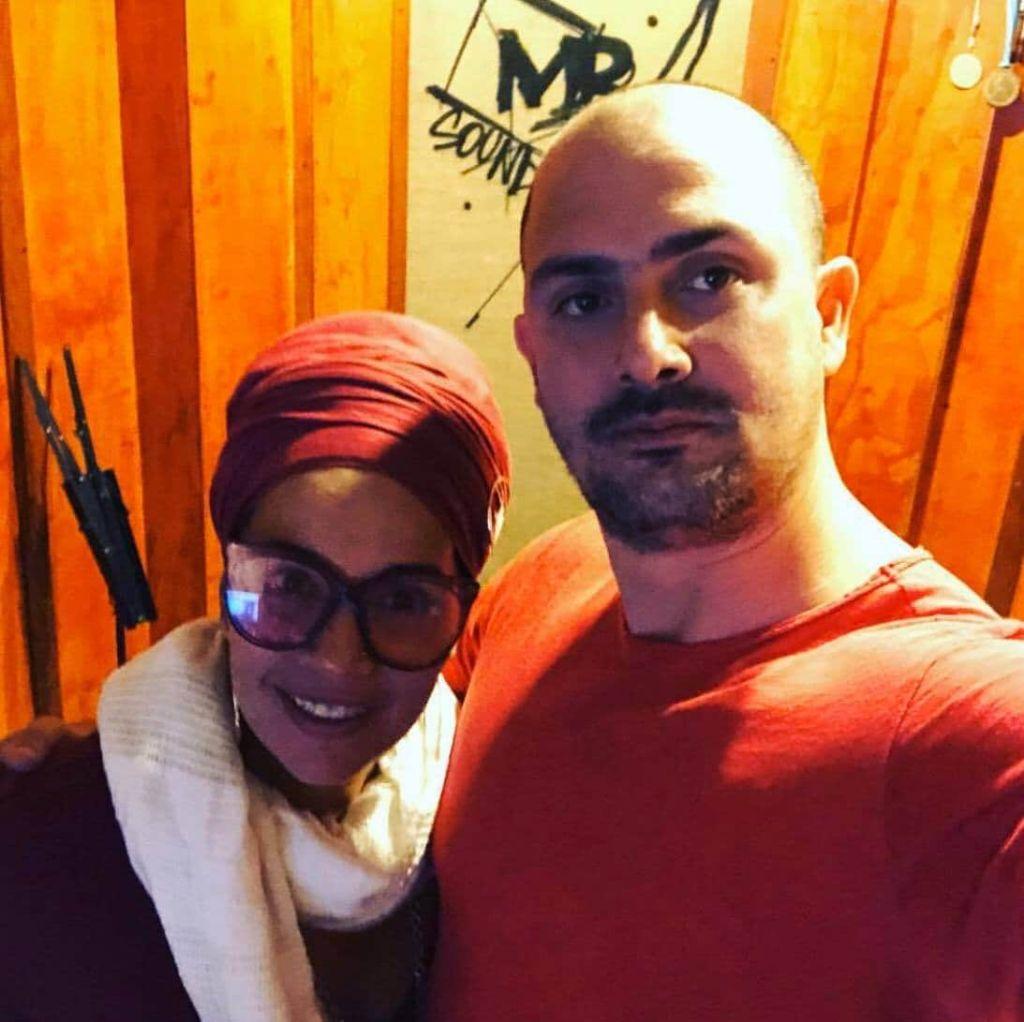 Maykel Bárzagas junto a Telmary en MB Sound