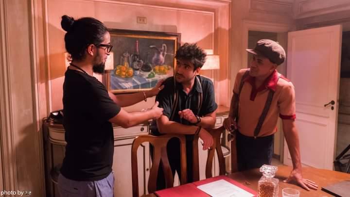De izquierda a derecha, Joseph Ros, Harold López-Nussa y Randy Malcom durante la filmación del video clic